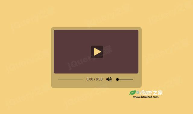 简洁的HTML5视频播放器UI特效