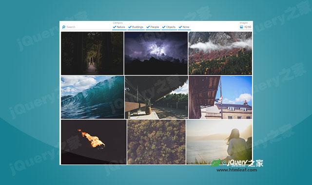 支持无限加载的js图片画廊插件