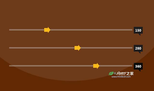 jQuery和CSS3箭头式滑块特效