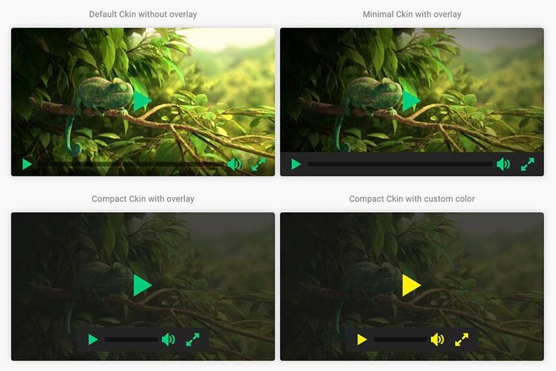 HTML5精美视频播放器插件