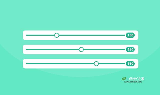 jquery和CSS3简洁滑块设计效果