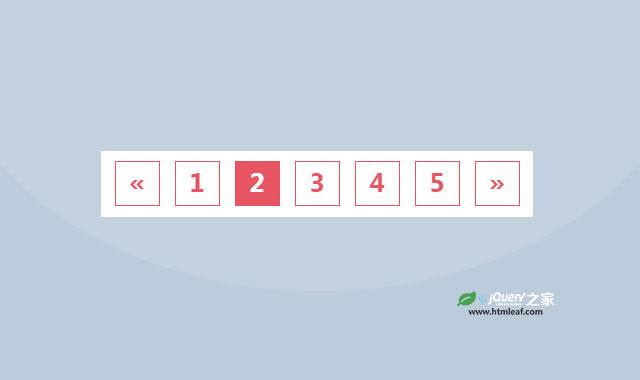 简洁的纯CSS3红色分页样式代码