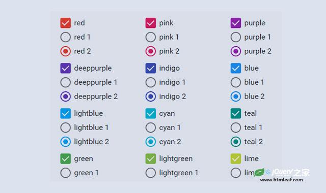 纯CSS3 Material Design风格单选框和复选框