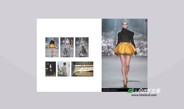 jQuery侧边栏式lightbox图片画廊插件