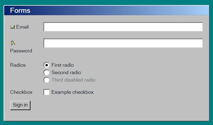 bootstrap4的windows95/98主题样式-2