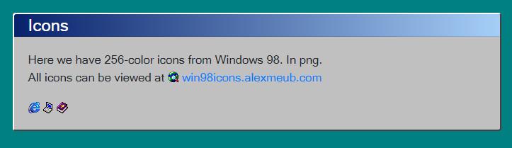 bootstrap4的windows95/98主题样式-4